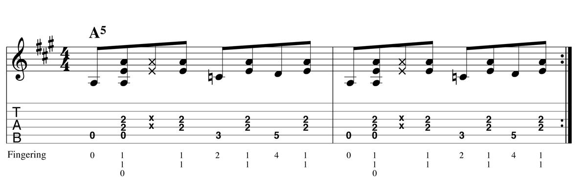 Blues Shuffle - Boogie ex1