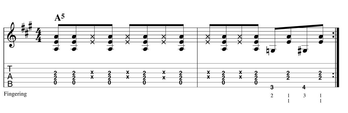 Blues Shuffle - Boogie ex2