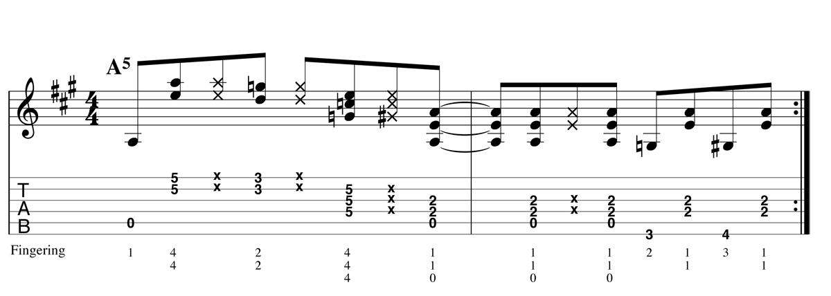 Blues Shuffle - Boogie ex3