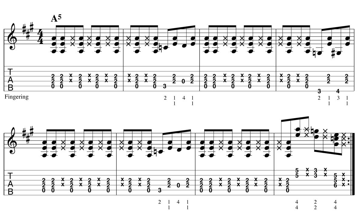 Blues Shuffle - Boogie ex4