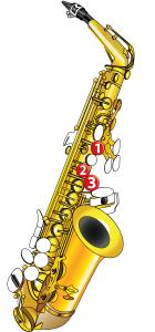 Saxophone Notes - G Note Diagram