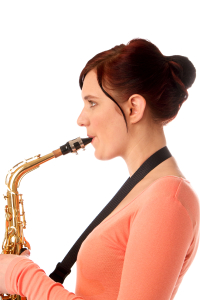 Saxophone Notes - Embouchure Side View