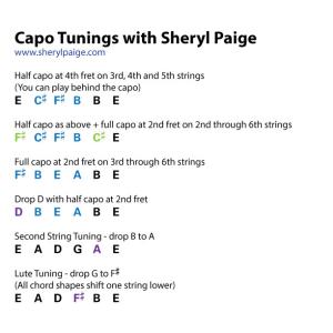 Guitar Capo Tunings - Sheryl Paige