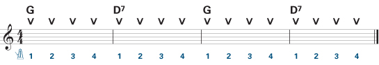 Easy guitar chords exercise 2