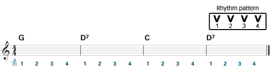Easy guitar chords exercise 3