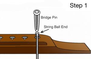 Change Acoustic Guitar Strings Step 1
