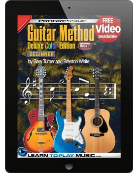 Progressive Guitar Method - Book 1 - Teach Yourself How to Play Guitar (Free Video Available)