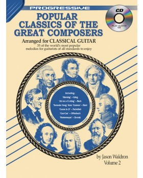 Progressive Popular Classics of the Great Composers - Volume 2 - Teach Yourself How to Play Classical Guitar Sheet Music