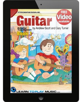 Guitar Lessons for Kids - Book 1 - How to Play Guitar for Kids (Free Video Available)