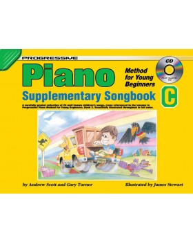 Progressive Piano Method for Young Beginners - Supplementary Songbook C - How to Play Piano for Kids