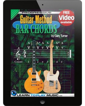Guitar Lessons - Guitar Bar Chords for Beginners - Teach Yourself How to Play Guitar Chords (Free Video Available)