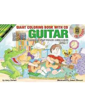 Progressive Guitar Method for Young Beginners - Book 1 (Giant Coloring Book) - Teach Yourself How to Play Guitar