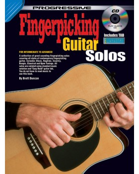 Progressive Fingerpicking Guitar Solos - Teach Yourself How to Play Guitar