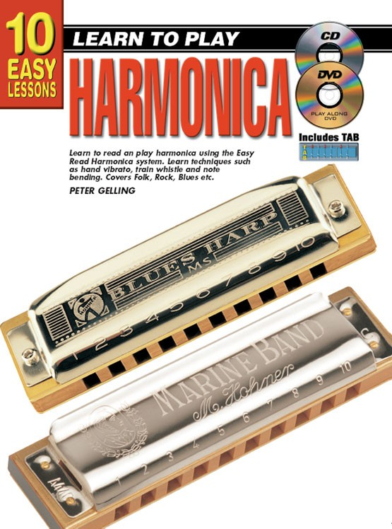 Learn playing harmonica beginners notes