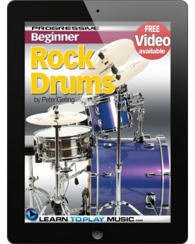 Rock Drum Lessons for Beginners - Teach Yourself How to Play Drums (Free Video Available)