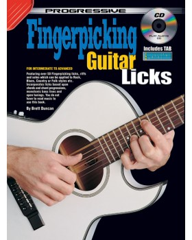 Progressive Fingerpicking Guitar Licks - Teach Yourself How to Play Guitar