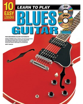 10 Easy Lessons - Learn To Play Blues Guitar - Teach Yourself How to Play Guitar