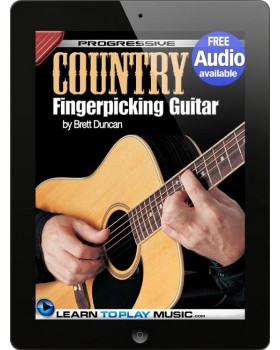 Country Fingerstyle Guitar Lessons - Teach Yourself How to Play Guitar (Free Audio Available)