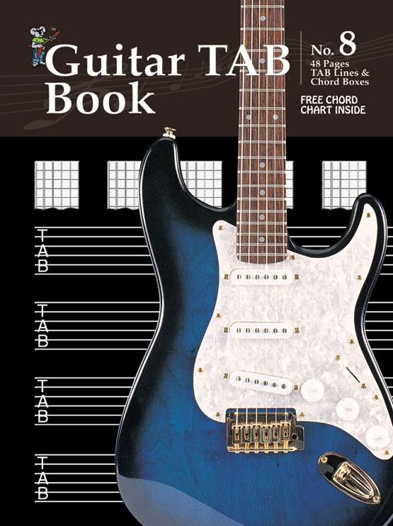 music staff paper progressive manuscript book 8 guitar tab book. Black Bedroom Furniture Sets. Home Design Ideas