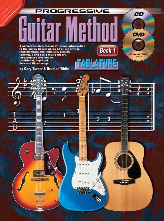 progressive guitar method book 1 with tab. Black Bedroom Furniture Sets. Home Design Ideas
