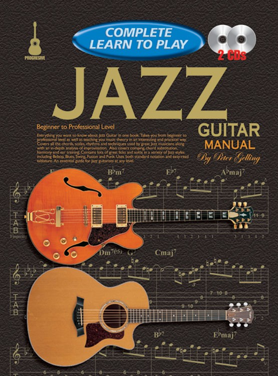 progressive complete learn to play jazz guitar manual. Black Bedroom Furniture Sets. Home Design Ideas