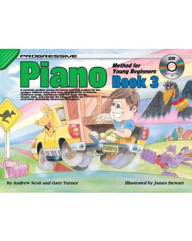 Progressive Piano Method for Young Beginners - Book 3 - How to Play Piano for Kids