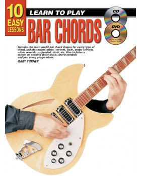 10 Easy Lessons - Learn To Play Bar Chords - Teach Yourself How to Play Guitar