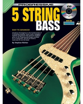 Progressive 5 String Bass - Teach Yourself How to Play Bass Guitar