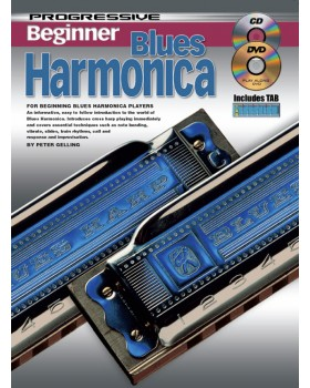 Progressive Beginner Blues Harmonica - Teach Yourself How to Play Harmonica