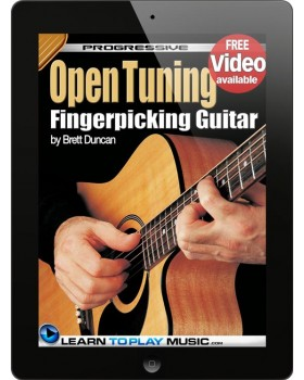 Open Tuning Fingerstyle Guitar Lessons for Beginners - Teach Yourself How to Play Guitar (Free Audio Available)
