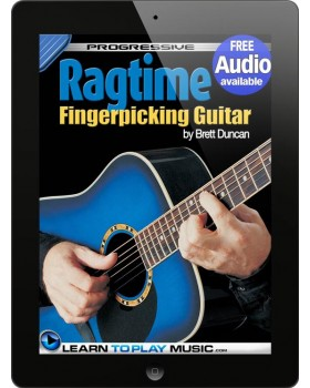 Ragtime Fingerstyle Guitar Lessons - Teach Yourself How to Play Guitar (Free Audio Available)