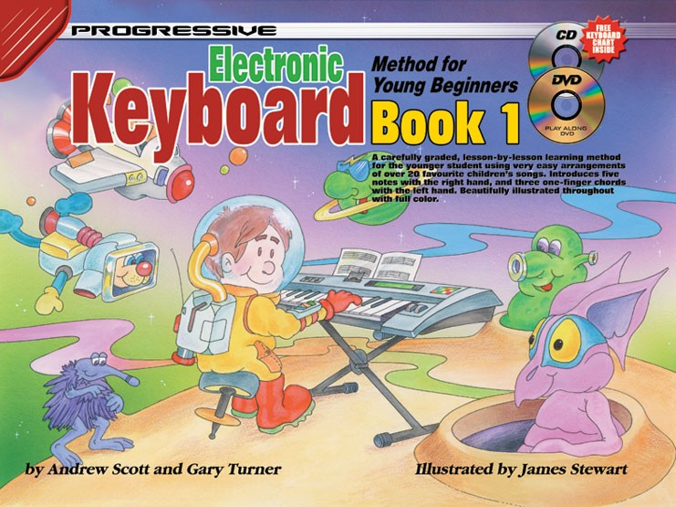 How to play keyboard for kids electronic keyboard lessons for kids progressive electronic keyboard method for young beginners book 1 how to play keyboard for fandeluxe Image collections