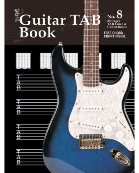 Progressive Manuscript Book 8 - Guitar TAB Book - Music Staff Paper