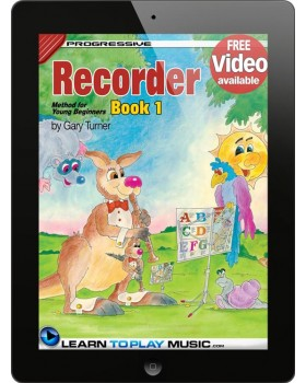 Recorder Lessons for Kids - Book 1 - How to Play Recorder for Kids (Free Video Available)
