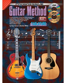 Progressive Guitar Method - Book 1 with TAB - Teach Yourself How to Play Guitar