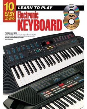10 Easy Lessons - Learn To Play Electronic Keyboard - Teach Yourself How to Play Keyboard