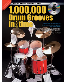 Progressive 1,000,000 Drum Grooves - Teach Yourself How to Play Drums