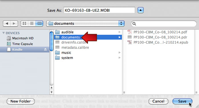 Mac OS 10.6.8: Kindle Directory