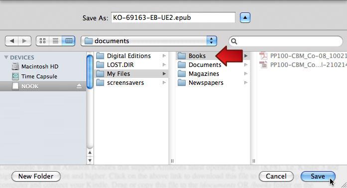 Mac OS 10.6.8: Nook Directory