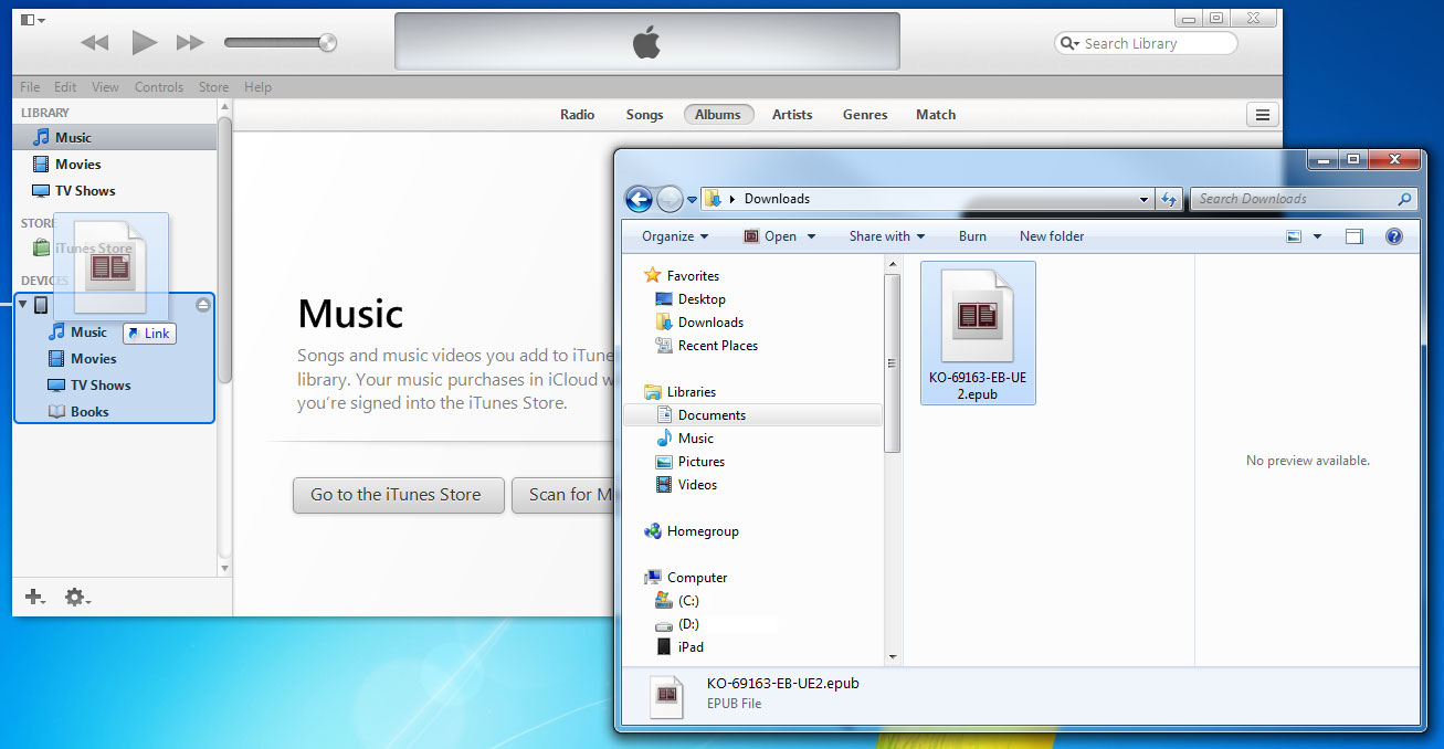 how to drag music from itunes to google play