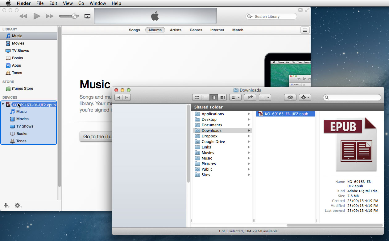 iTunes and Download Folder: Drag and Drop