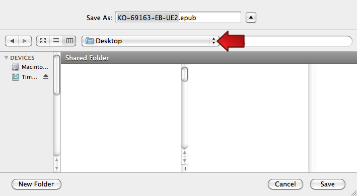 Mac OS 10.6.8: Save to Desktop